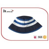 Buy cheap Boys custom printed cheap stripe reversible navy bucket hat for kids product