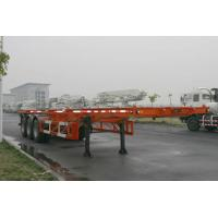 Quality 40ft Skeletal Three Axles Steel Shipping Container Trailer Chassis ISO9001 CCC for sale