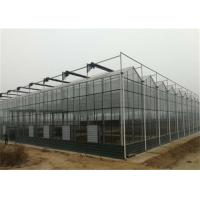 Quality 4m Section Width Glass Greenhouse Kit , Greenhouse System For Fruit Seedlings for sale