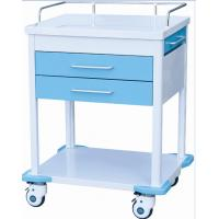 Quality Hospital Emergency Medical ABS Trolley With Drawers Wheels Shelves for sale