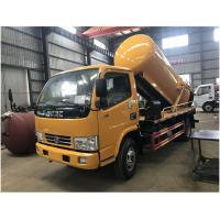 Quality 5CBM 4 Tons Sewer Vacuum Truck With Jurop / BP Pump For City / Factory for sale