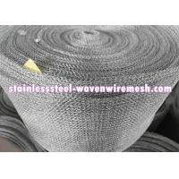 """Quality Flat/Crimped Stainless Steel 321 Knitted Wire Mesh 30 """" / 42 """" And Wire Diameter 0.011 """" Flat Bright Silver for sale"""