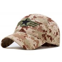 Quality Military Style Embroidered Baseball Caps Breathable 4 Lines Sweatband For Summer for sale