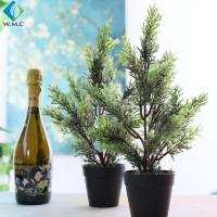 Table Decoration Artificial Potted Plants , Home Decor Potted Cypress Tree for sale