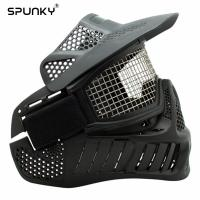 Quality Airsoft Face Mask With Steel Wire Mesh , Military Tactical Mask For Archery Games for sale