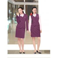 Quality corporate apparel Front Office Uniforms attire with official Skirt , Shirt , Vest for sale