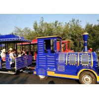 Quality Outdoor Diesel Trackless Train Amusement Ride Vacuum Tyre For Large Scenic Area for sale
