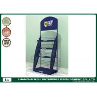 Quality Wire Retail Display Racks store shelving units floor standing powder coating for sale