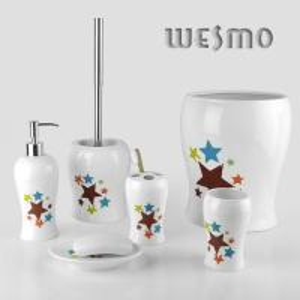 Quality 6 Piece Ceramic Bathroom set for sale