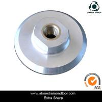 Quality 100mm Aluminum velcro polishing backer pads for air grinder for sale