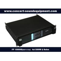 Quality Hgh Power Nightclub Sound Equipment / Light Weight 4x1300W Amplifier FP 10000Q for sale