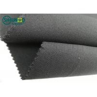 Quality Medium Weight 76gsm Twill Weave Interlining Fabric with PA double dot for sale