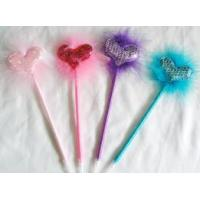 Quality Heart shape feather ball pen for sale