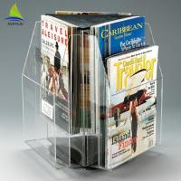 China 360 Degrees Rotating Clear Display Countertop Clear Acrylic Paper Holder on sale