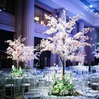 1.5m Height Artificial Pink Blossom Tree / Fake Cherry Flower Wedding Table Tree for sale