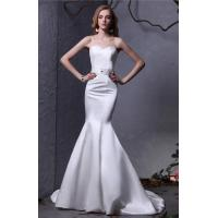Buy Sweep Train Satin Sweetheart Strapless Mermaid Wedding Gowns , Sleeveless Design at wholesale prices