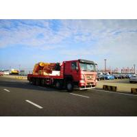 Quality 10 X 4 100 Tons Mobile Crane Truck , Folded Boom Type Heavy Duty Crane Truck for sale