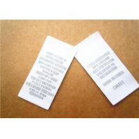 China Heat cut Clothing Label Tags woven for back neck label with customized logo on sale