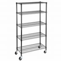Quality NSF & BSCI Certificate 350kgs Heavy Duty Garage Storage Chrome Metal Wire Shelving Factory for sale