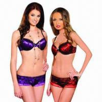 Quality Girls' bra sets/satin bra sets, OEM orders are welcome, customized fabric and designs are accepted for sale