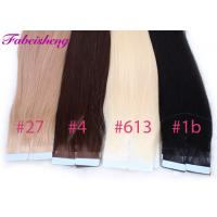 Buy cheap Colored Russian Virgin Seamless Tape In Hair Extensions No Shedding 100% Unprocessed product