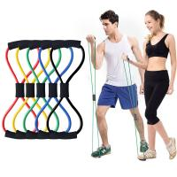 China 8 Word elastic pull rope exercises , Lightweight Yoga Resistance Rubber Bands on sale