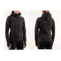 China OEM Black Full Zipped 300gsm Cotton Fleece Women Sport Hoodie Sports Shirt on sale