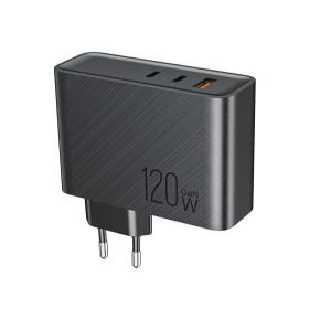 Quality DOE VI 120W GaN Triple Port Charger For Travel Carry for sale