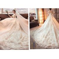 Quality New Type Luxurious long tail wedding dress for sale