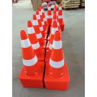 China Road Safety Guiding Cone Orange PVC Plastic Traffic Cones on sale