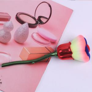 Quality Fine Shape Powder Foundation Brush Single Rose Type Premium Cosmetics Accessories for sale