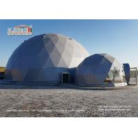 Quality Flame Retardant 20m Geodesic Dome Tents For 500 People / Outdoor Tent Wedding for sale