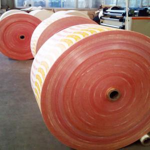 China PE coated paper cup fan stock lot flexo printing pe coated paper fan on sale