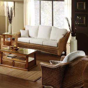 Quality TF-9032 wicker living room sofa furniture/garden sofa set for sale