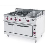 4 Burner Gas Electric Oven , Gas Cooker Electric Oven CE Certification