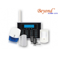 Quality Dual Network GSM &PSTN LCD Screen Display Touch Keypad Wireless 868mhz Home Alarm Systems for sale