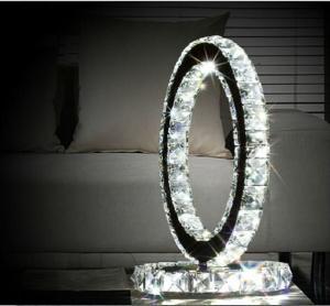 2015 New modern led crystal desk lamp stainless steel crystal desk lamp