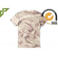 Tactical Cool Army T Shirts 100% Cotton , Short Sleeve Combat Shirt Quick Dry