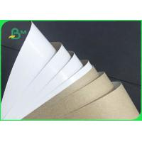 China Grade AA 140gsm 170gsm Recyclable White Top Kraft Liner Paper For Packaging on sale