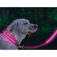 China Eco Friendly LED Glow In The Dark Dog Leash Weatherproof Available In 5 Colors on sale