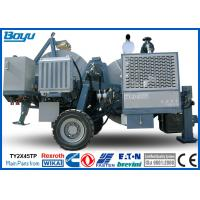 China Pulling Tension 2x45kN Two Bundle Overhead Line Stringing Equipment with 40mm Conductor Diameter Cummins Engine on sale