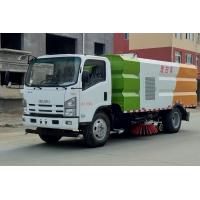Quality ISUZU 4*2 Road Washing and Cleaning Tanker Truck With 4cbm Water 5cbm Dust Tanks for sale