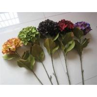China Artificial Flower Stem Hydrangea(ZHJHY102),Autumn Colors. on sale