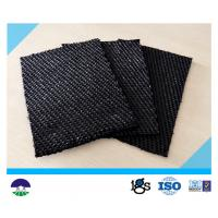 China 80 / 80kN Black Dewatering Woven Monofilament Geotextile High - Tenacity on sale
