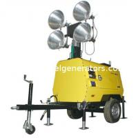 Quality  Minning Mobile lighting Towers with water cooled generator for sale