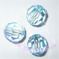 China Large supply clear faceted crystal acrylic beads for jewelry parts on sale