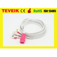 Buy cheap Disposable 5 leads ECG cable / ECG leadwire  with clip,IEC,6pin for all brand product
