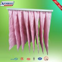 Quality F7 Eu7 Filtration System Synthetic Fiber Air Filters Pink Color 8 Pockets for sale