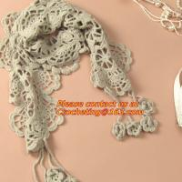 China autumn-summer, women's all-match, cutout handmade, crochet, yarn scarf,Shawls scarves Sen on sale