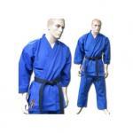 Quality Blue V Neck Karate kimono GI Karate Uniform with Customized Logo for sale